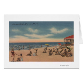 Clearwater, Florida - View of Clearwater Beach Card
