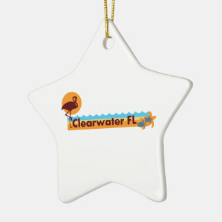 Clearwater la Florida - diseño de la playa Adorno Navideño De Cerámica En Forma De Estrella
