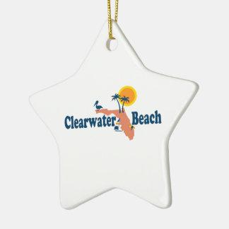 Clearwater la Florida - diseño del mapa Adorno Navideño De Cerámica En Forma De Estrella