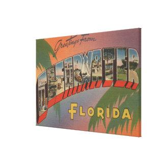 Clearwater, la Florida - escenas grandes 3 de la l Impresión En Lona Estirada