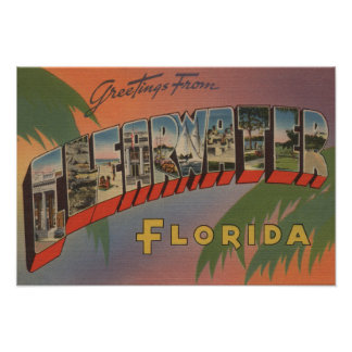 Clearwater, la Florida - escenas grandes 3 de la l Póster
