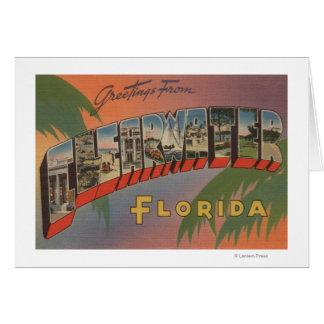 Clearwater, la Florida - escenas grandes de la let Tarjeta De Felicitación