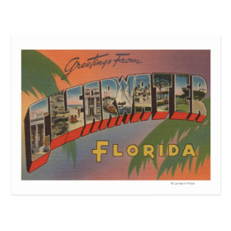 Clearwater, la Florida - escenas grandes de la Tarjetas Postales