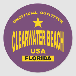 clearwater-oro pegatina redonda