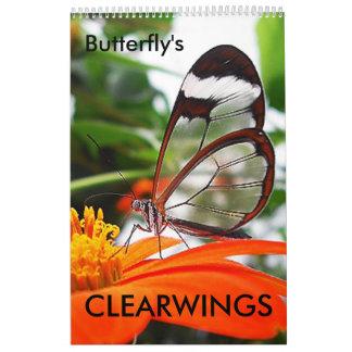 CLEARWINGS, mariposa Calendario