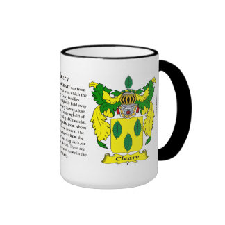 Cleary Family Coat of Arms Ringer Mug