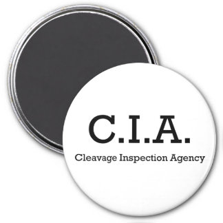 Cleavage Inspection Agency 3 Inch Round Magnet