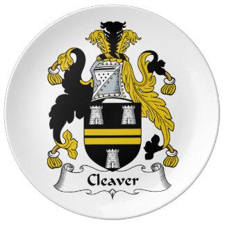 Cleaver Family Crest Porcelain Plates