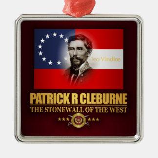 Cleburne (patriota meridional) adorno navideño cuadrado de metal