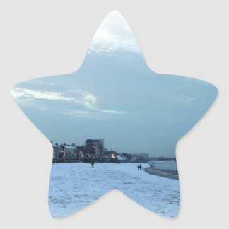 Cleethorpes in winter star sticker