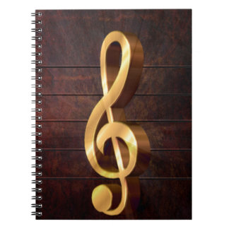 clef-635425  CLEF NOTE MUSIC SYMBOL LOGO PARTY DAN Spiral Notebook