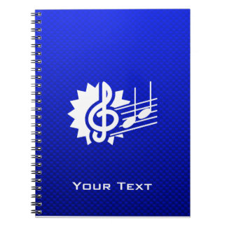 Clef agudo azul; Notas de la música Cuaderno