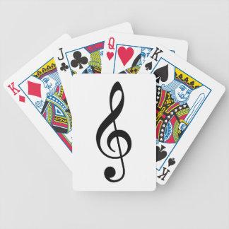 Clef agudo barajas de cartas
