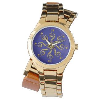 clef agudo de la flor - joyería reloj de mano