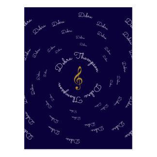 clef agudo de la música con el nombre postal