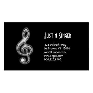 Clef agudo de la tarjeta de la industria musical tarjetas de visita