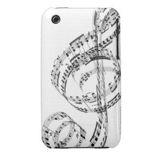 Clef agudo iPhone 3 Case-Mate carcasa
