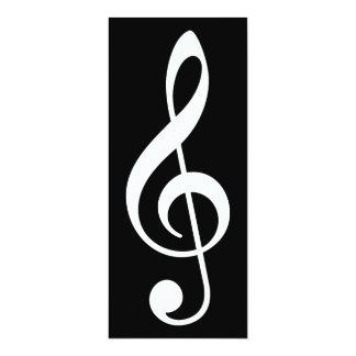 clef agudo invitación 10,1 x 23,5 cm