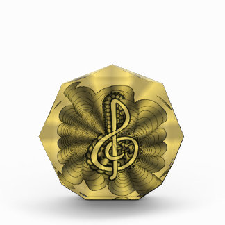Clef agudo musical Personalizable del oro