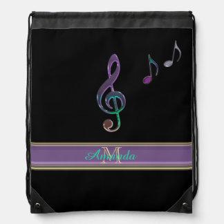 Clef agudo personalizado de la música en la mochila