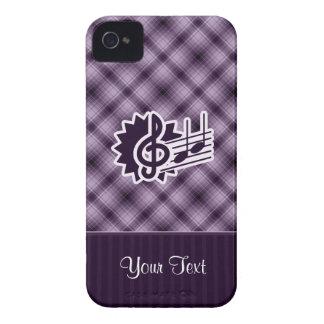 Clef agudo púrpura Case-Mate iPhone 4 protectores