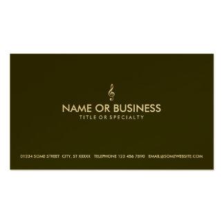clef agudo simple tarjetas de visita