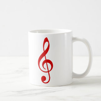 Clef agudo taza de café