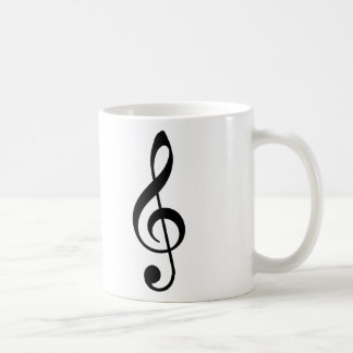Clef agudo tazas de café