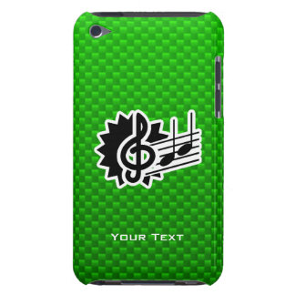 Clef agudo verde iPod Case-Mate protector