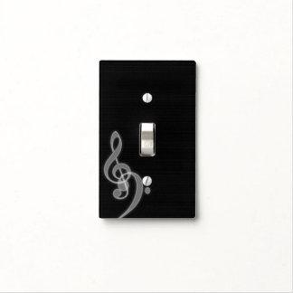 Clef agudo y bajo de la música - - interruptor tapa para interruptor