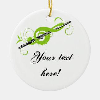 Clef agudo y flauta personalizados ornaments para arbol de navidad