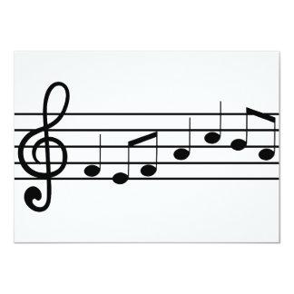 clef agudo y notas: partitura comunicado