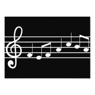 clef agudo y notas: partitura comunicado personalizado
