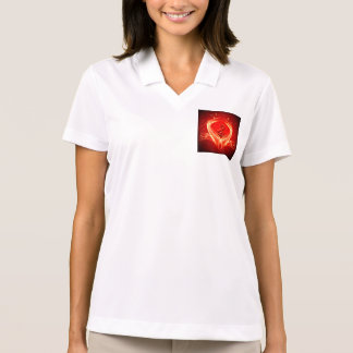 Clef and key notes on red background polo shirt