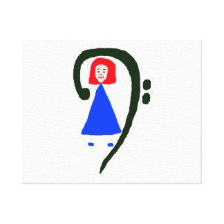 Clef bajo azul femenino rojo del azul de vestido lona envuelta para galerías