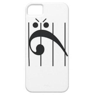 Clef bajo enojado funda para iPhone SE/5/5s