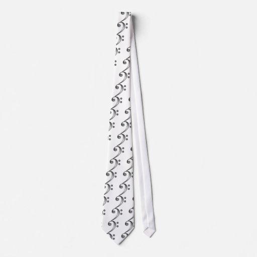 Clef bajo metálico corbata
