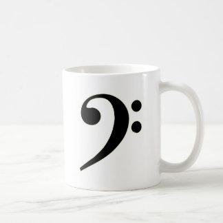 Clef bajo negro taza clásica