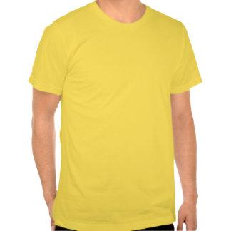 Clef bajo rojo del teñido anudado espiral camisetas