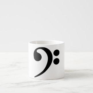 Clef bajo taza espresso