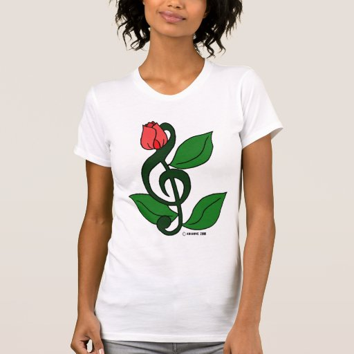 Clef color de rosa tee shirt