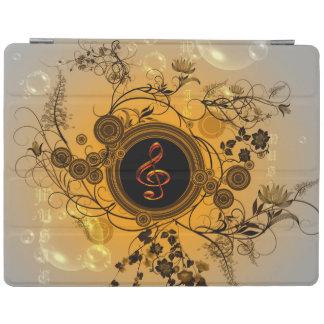 Clef con los elementos florales cover de iPad