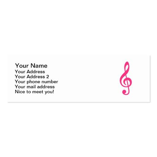 Clef de la nota de la música tarjetas de visita mini
