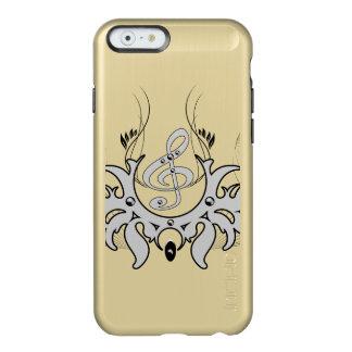 Clef decorativo con las notas dominantes funda para iPhone 6 plus incipio feather shine