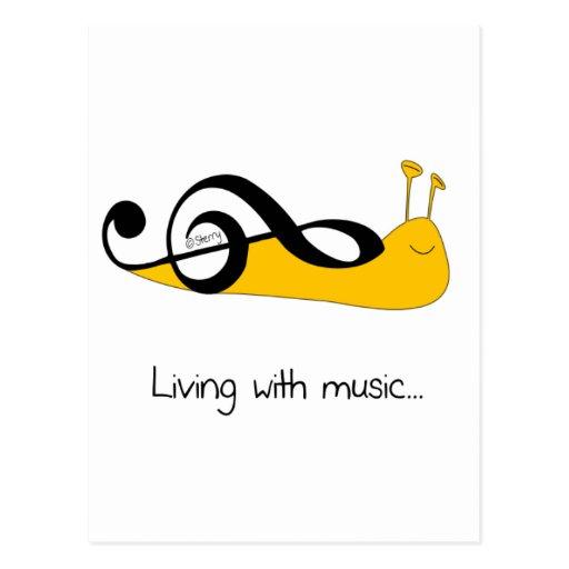 Clef del caracol: Vida con música… Tarjeta Postal