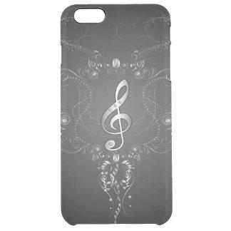 Clef elegante con los elementos florales funda clearly™ deflector para iPhone 6 plus de unc