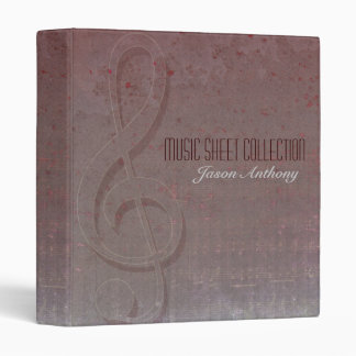 Clef Grunge Music Sheet Collection Binder