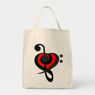 Clef Heart Overlap Bag