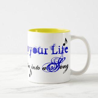 Clef-Music-Note, sing.. Two-Tone Coffee Mug
