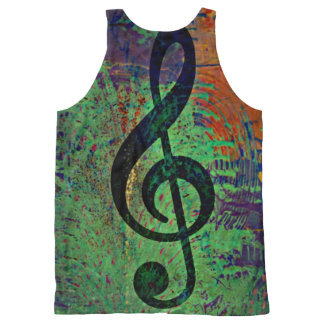 Clef Music Style All-Over-Print Tank Top